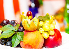 Fruit on a plate Royalty Free Stock Images