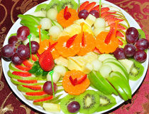 Fruit plate. Stock Image
