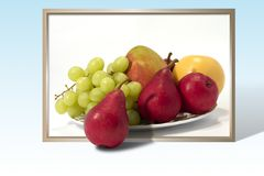 Fruit plate - edited. Fruit plate - out-of-frame effect - edited in photoshop Royalty Free Stock Photos