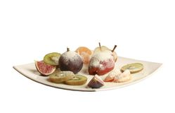 Fruit plate isolated Stock Photography