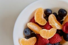 Fruit plate Stock Images