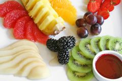 Fruit platter Royalty Free Stock Photos