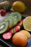 Fruit platter. Delicious fruit platter Stock Images