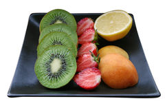 Fruit platter. Isolated white bg Royalty Free Stock Photography