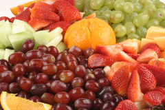 Fruit Platter. A close up of a tray of fruit Stock Photo