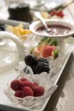 Fruit platter with assortment of berries Stock Image