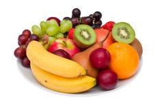 Fruit platter isolated on white. Royalty Free Stock Photography