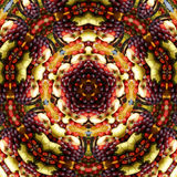 Fruit platter kaleidoscope  Royalty Free Stock Images