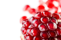Fruit pomegranate broken down into two parts Royalty Free Stock Photography