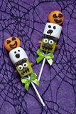 Fruit pops for Halloween stock images