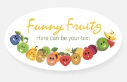 Fruit Poster Fruits Tropical Stock Photography