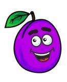 Fruit pourpre de prune de bande dessinée Photo stock