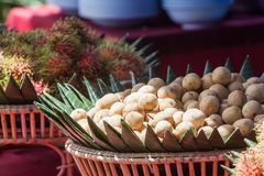 Fruit is prepared in a basket and serve. Royalty Free Stock Photos