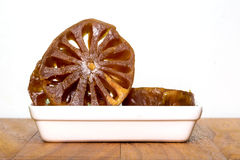Fruit preserve in white plate Stock Photography