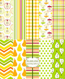 Seamless Background Patterns - Fruit Prints Royalty Free Stock Photos