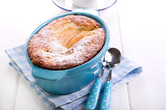 Fruit pudding in a tin, Royalty Free Stock Image