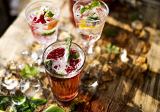 Fruit punch beverage freshness cocktail Royalty Free Stock Images