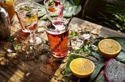 Fruit punch beverage freshness cocktail Stock Photo
