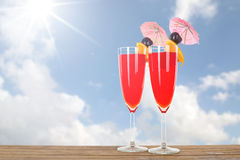Fruit punch cocktail beverage Royalty Free Stock Photography