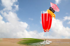 Fruit punch cocktail beverage Royalty Free Stock Images