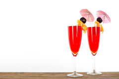 Fruit punch cocktail beverage Stock Photo