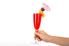 Fruit punch cocktail beverage Stock Image