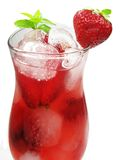 Fruit Punch Cocktail Drink With Strawberry Stock Photos