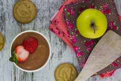 Fruit puree Stock Image