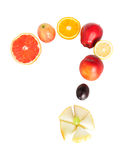Fruit question mark Stock Photo
