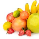 Fruit réglé sur un fond blanc Image stock