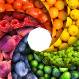 Fruit rainbow stock photo