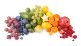 Fruit rainbow. Ripe fesh fruits as a rainbow Stock Photos