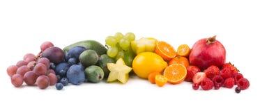 Fruit rainbow. Ripe fresh fruits as a rainbow Stock Photography