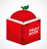 Fruit recipe book. Design, vector illustration Stock Photos