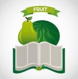 Fruit recipe book Stock Photos
