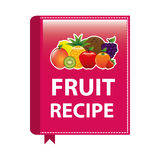 Fruit recipe book Royalty Free Stock Photo