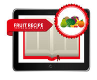 Fruit recipe book Royalty Free Stock Photography