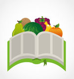 Fruit recipe book. Design, vector illustration eps10 graphic Royalty Free Stock Photo