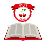 Fruit recipe book. Design, vector illustration eps10 graphic Stock Photos