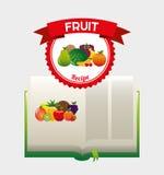 Fruit recipe book Stock Photography