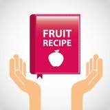 Fruit recipe book Royalty Free Stock Photo
