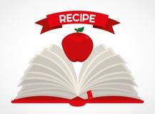 Fruit recipe book Royalty Free Stock Image