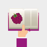 Fruit recipe book Stock Photo