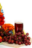 Fruit, red grape juice Royalty Free Stock Photos