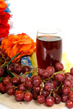 Fruit, red grape juice Stock Images