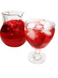 Fruit red punch cocktail drink with cherry Stock Image