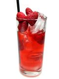 Fruit red punch cocktail drink with raspberry Stock Photo