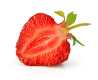 Fruit of red strawberry isolated Royalty Free Stock Image