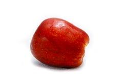 Fruit rouge d'Apple d'isolement Photo stock