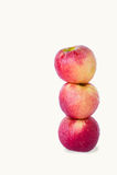Fruit rouge de pomme sur le fond blanc Photographie stock